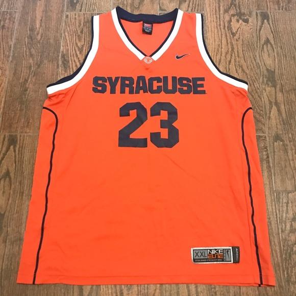 Nike Shirts Mens Syracuse Orangeman Basketball Jersey 2xl Poshmark